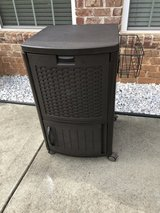 Suncast Wicker Outdoor Patio Cool Cart with Cabinet in Warner Robins, Georgia