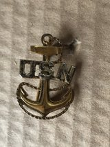 USN Chief Petty Officer Anchor Hat Badge Pin in Warner Robins, Georgia