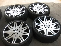SET OF TIRES AND RIMS 235/35 ZR19 91W in Okinawa, Japan