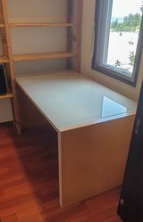 Glass top Ikea desk in Okinawa, Japan