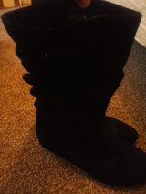 cute black boots 7 1/2M in Wilmington, North Carolina