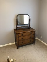 Solid wood chest of drawers with mirror more in Aurora, Illinois