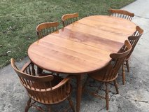 Maple Table & 6 Chairs in Plainfield, Illinois