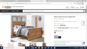 Queen Sleigh Bed in Camp Lejeune, North Carolina