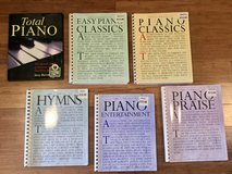 Lot of 6 New Piano Books Hymns Classics in Travis AFB, California