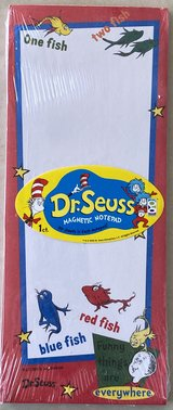 Dr. Seuss Magnetic Notepad NIP One Fish, Two Fish in Okinawa, Japan