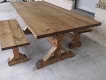 Farmhouse Table + Benches in Cleveland, Texas