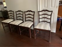 4 charming vintage dining room chairs in Beaufort, South Carolina