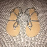 Like new!  Women's Metallic Rope Sandals Sz 5.5 in Naperville, Illinois