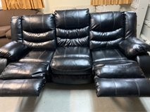 black leather reclining couch in Okinawa, Japan