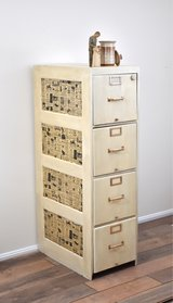 Repainted Vintage Filing Cabinet in Fort Belvoir, Virginia