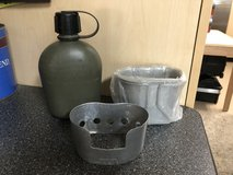 USGI USMC Issued Canteen, Stand & New Canteen Cup in Camp Pendleton, California