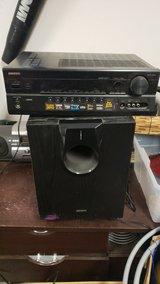 Onkyo Surround Sound System 7.1 Channel 7 Speaker Bass wired in 29 Palms, California