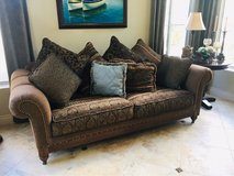 Elegant Sofa with 8 large throw pillows in Camp Pendleton, California
