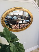 Oval Gold Framed Mirror in Camp Pendleton, California