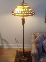Stained glass floor lamp in Naperville, Illinois