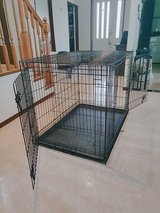 Midwest Dog Crate, large w/double doors & puppy partition in Okinawa, Japan