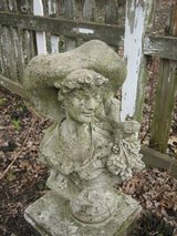 cement garden bust of french woman in Naperville, Illinois