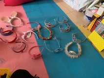 all the tiaras are on sale princess ones are $3 others are $1, head bands $2 in Okinawa, Japan
