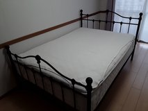 Metal Double Sized Bed Frame in Okinawa, Japan