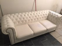 white leather couch in Ramstein, Germany