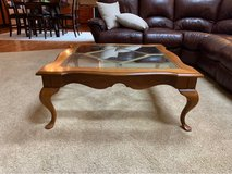 Coffee Table with Glass Inset in Bolingbrook, Illinois
