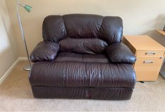 Leather Recliner Love Seat in Bolingbrook, Illinois