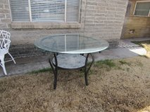 outdoor table nice size slate bottom in Alamogordo, New Mexico