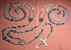 Lasso Wedding Rosary Colors of 2020 Blues Aquas Our Lady of Guadalupe Medals Crucifix Italian Si... in Kingwood, Texas