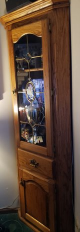 2 oak corner cabinets in Orland Park, Illinois