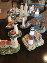 15 Lighthouse and Ship statues in Conroe, Texas
