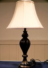 """Lamp,  oiled brass finish,  29"""" tall in St. Charles, Illinois"""