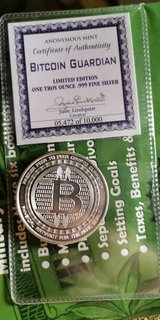 1 oz Silver Bitcoin with certificate in Spangdahlem, Germany