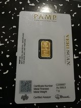 1 g gold Suisse PAMP bar in Spangdahlem, Germany