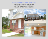 2 Bed // 1.5 Bath in Hubert for April in Camp Lejeune, North Carolina