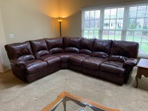Leather Sofa Ottoman for Free in Naperville, Illinois