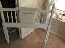 White Twin Headboard for Girls in Naperville, Illinois