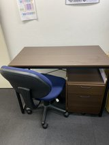 Office table, cabinet wagon, and chair in Okinawa, Japan
