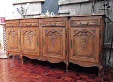 Solid Oak Sideboard with Nice Carvings in Ramstein, Germany