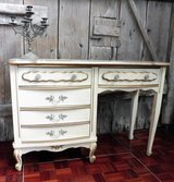 White Chippendale Desk or Make Up Table in Ramstein, Germany