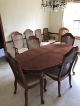 Vintage dining room table, hutch, table & end tables in Naperville, Illinois