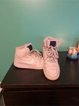 Gray and navy blue Nike high tops in Chicago, Illinois