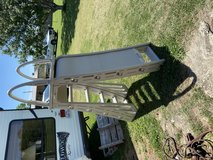 Above ground pool ladder with safety guard in Baytown, Texas