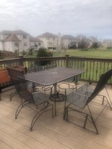 Wrought iron patio dining set in Chicago, Illinois