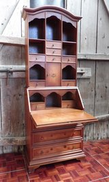 Secretary Desk With Cupboard with Wood Inlays in Ramstein, Germany