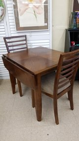 Wood Drop-leaf Table & 2 Chairs #1581-858 in Camp Lejeune, North Carolina