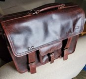 Vintage Leather Briefcase in Okinawa, Japan
