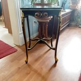 artist refurbished antique bed/end table in Joliet, Illinois