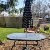 Patio Table with Umbrella in Chicago, Illinois