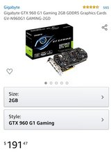 Gigabyte GTX 960 G1 Gaming 2GB GDDR5 Graphics Cards GV-N960G1 GAMING-2GD in Fort Campbell, Kentucky